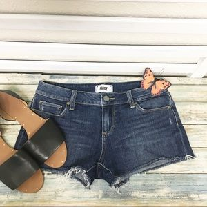 Paige Catalina Shorts Distressed Denim